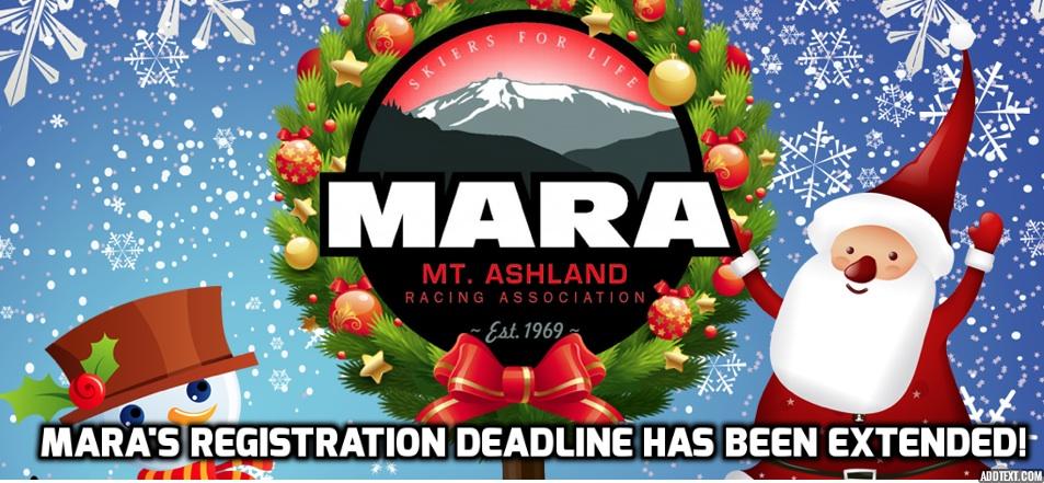 Program registration deadline has been moved to December 27th!